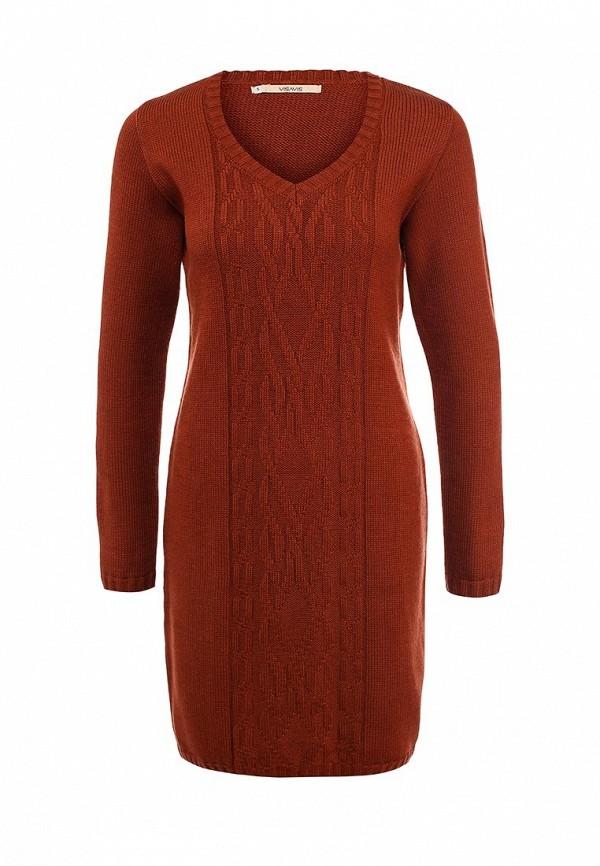 Повседневное платье Vis-a-Vis VIS-0200D/TERRACOTTA