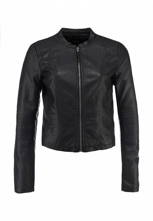 Куртка кожаная Vila VI004EWBWC78. Цвет: черный