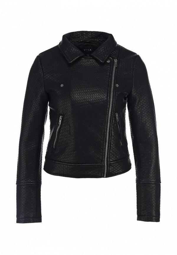 Куртка кожаная Vila VI004EWBWD24. Цвет: черный