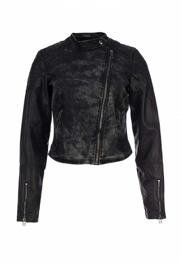 Куртка джинсовая Vila VI004EWLQ820. Цвет: черный
