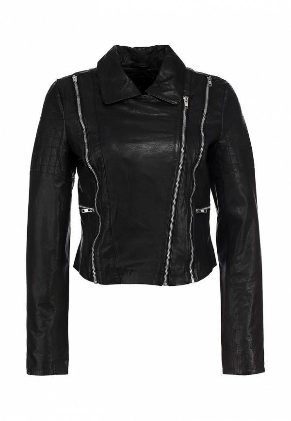 Куртка кожаная Vila VI004EWLQ848. Цвет: черный