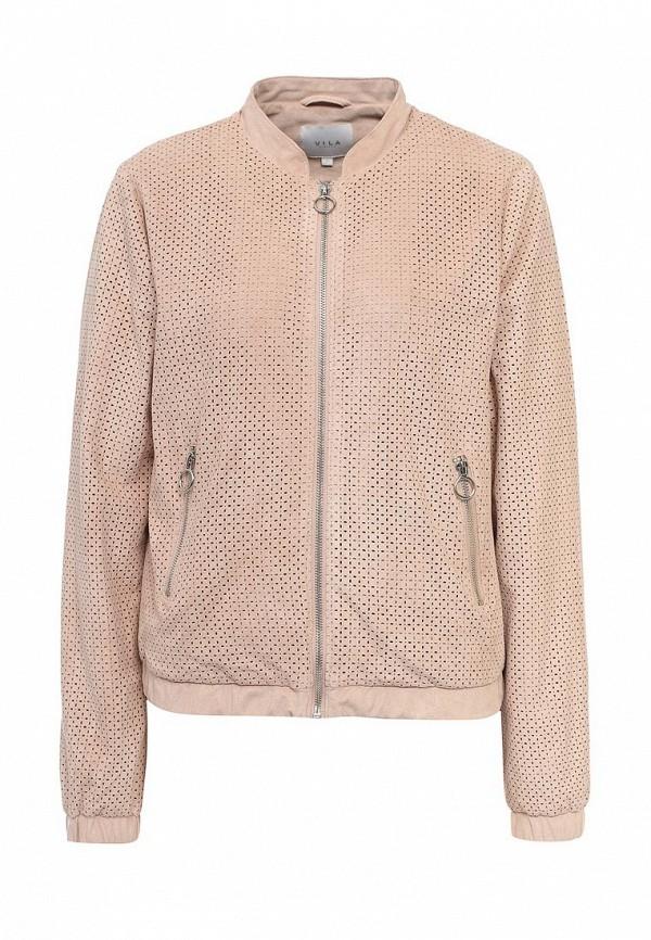 Куртка Vila. Цвет: розовый