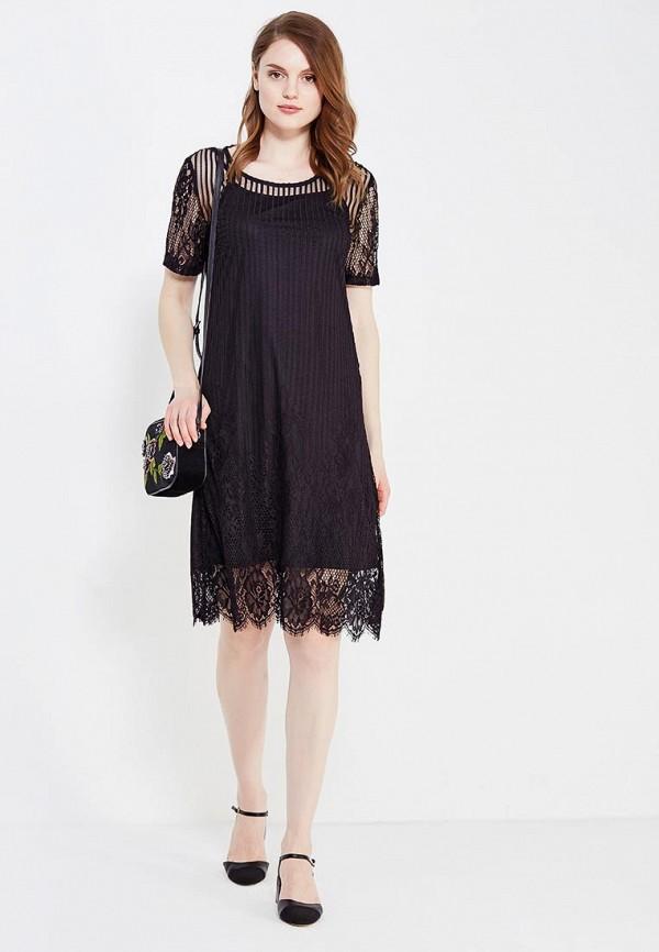 Фото 2 - женское платье Vila черного цвета