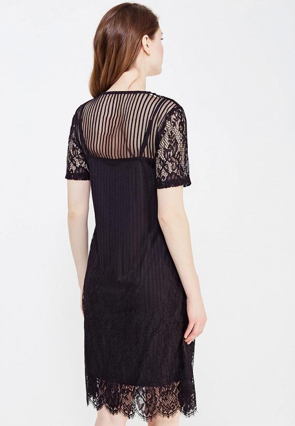 Фото 3 - женское платье Vila черного цвета