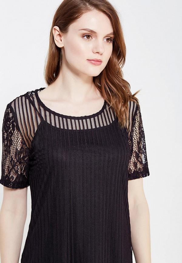 Фото 4 - женское платье Vila черного цвета