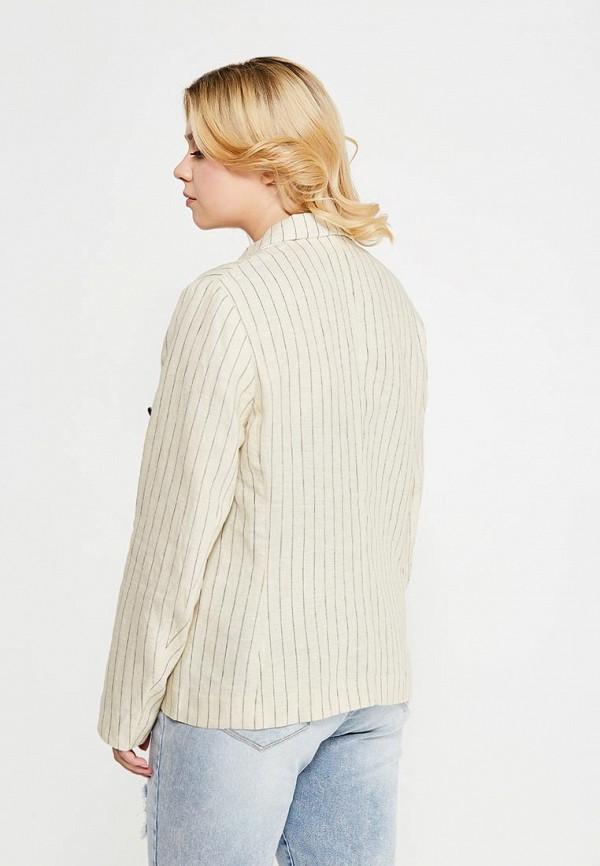 Фото 3 - женский пиджак Violeta by Mango бежевого цвета