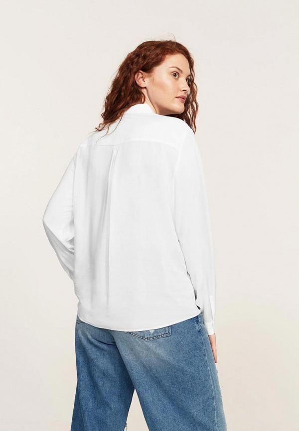 Фото 2 - Блузу Violeta by Mango белого цвета