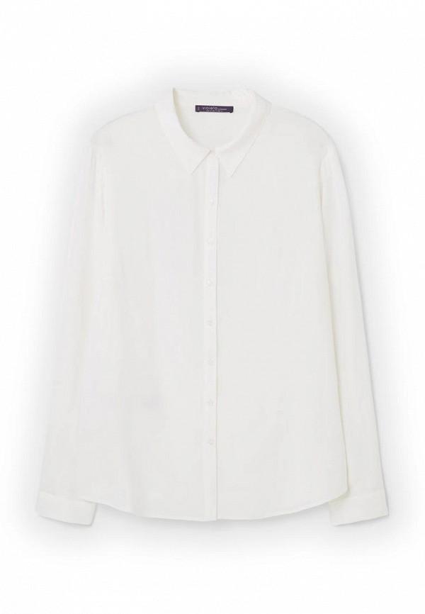 Фото 3 - Блузу Violeta by Mango белого цвета