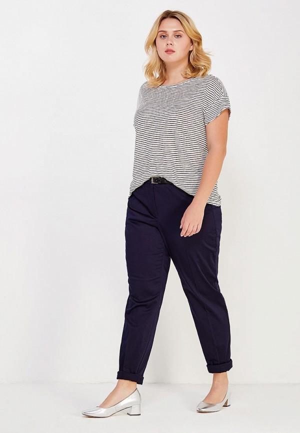Фото 2 - женские брюки Violeta by Mango синего цвета