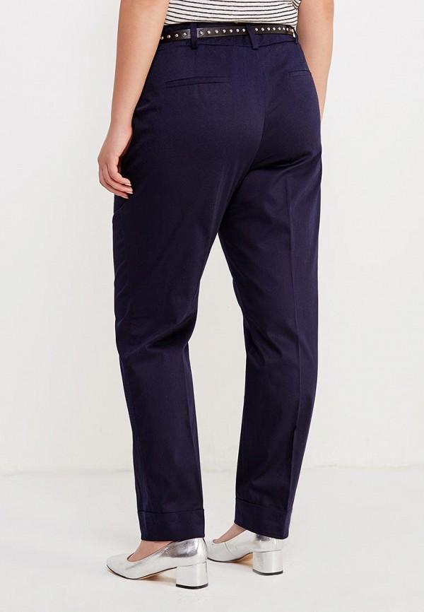 Фото 3 - женские брюки Violeta by Mango синего цвета