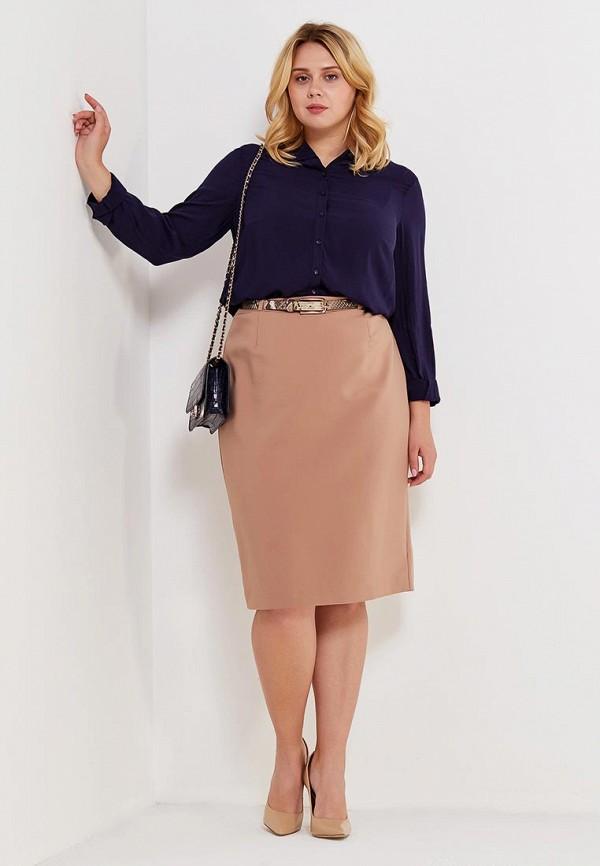 Фото 2 - женскую блузку Violeta by Mango синего цвета