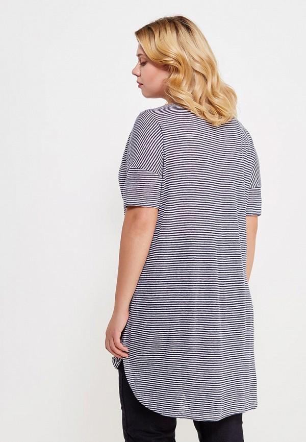 Фото 3 - женскую футболку Violeta by Mango синего цвета