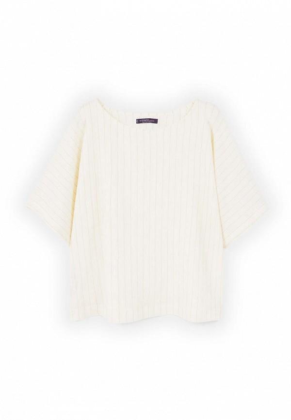 Фото 3 - женскую блузку Violeta by Mango бежевого цвета