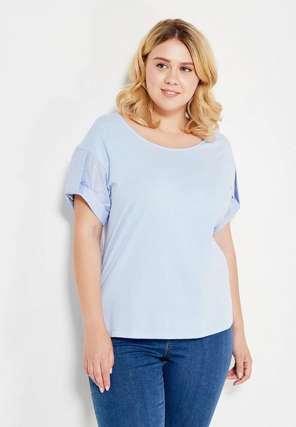 Фото - женскую футболку Violeta by Mango голубого цвета