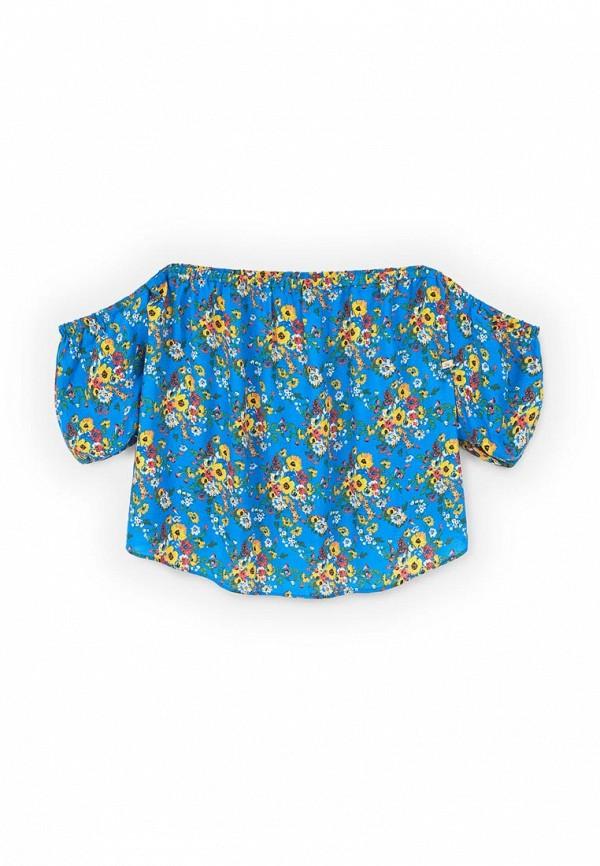 Фото 4 - женскую блузку Violeta by Mango синего цвета