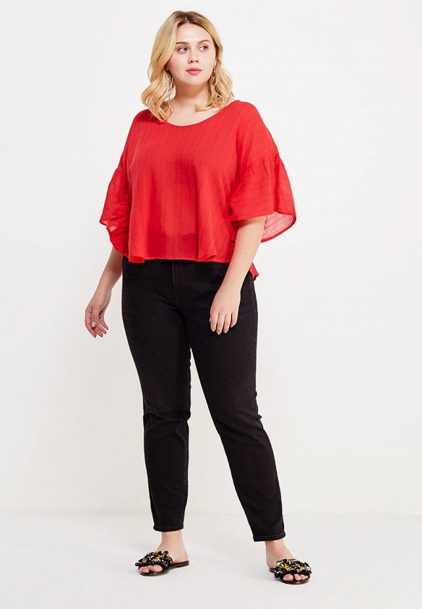 Фото 2 - женскую блузку Violeta by Mango красного цвета