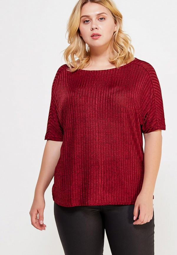 Фото - женскую футболку Violeta by Mango бордового цвета
