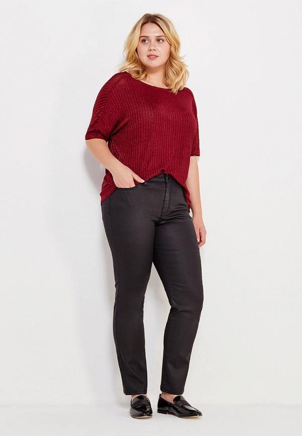 Фото 2 - женскую футболку Violeta by Mango бордового цвета