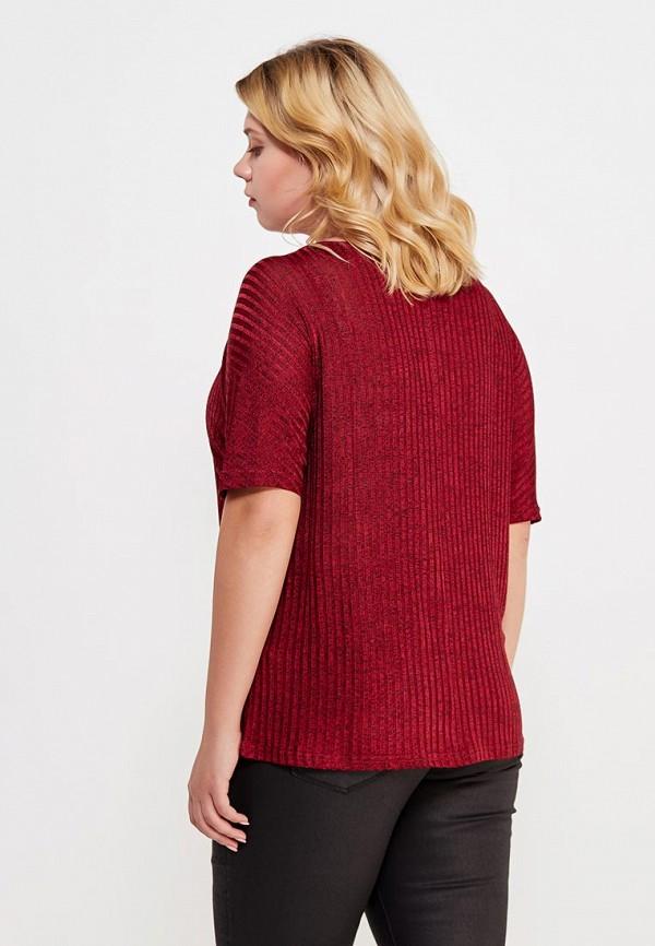 Фото 3 - женскую футболку Violeta by Mango бордового цвета
