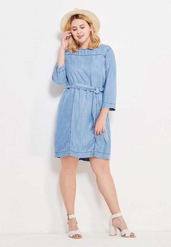 Фото 2 - женское платье Violeta by Mango голубого цвета