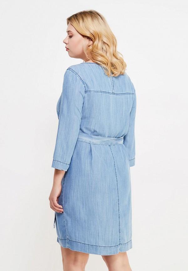 Фото 3 - женское платье Violeta by Mango голубого цвета
