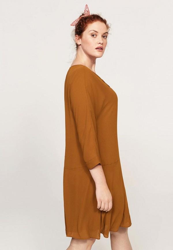 Фото 2 - женское платье Violeta by Mango коричневого цвета