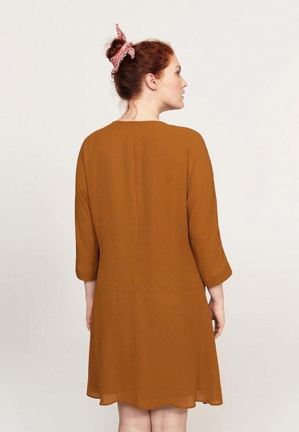 Фото 3 - женское платье Violeta by Mango коричневого цвета