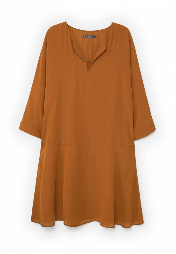 Фото 4 - женское платье Violeta by Mango коричневого цвета