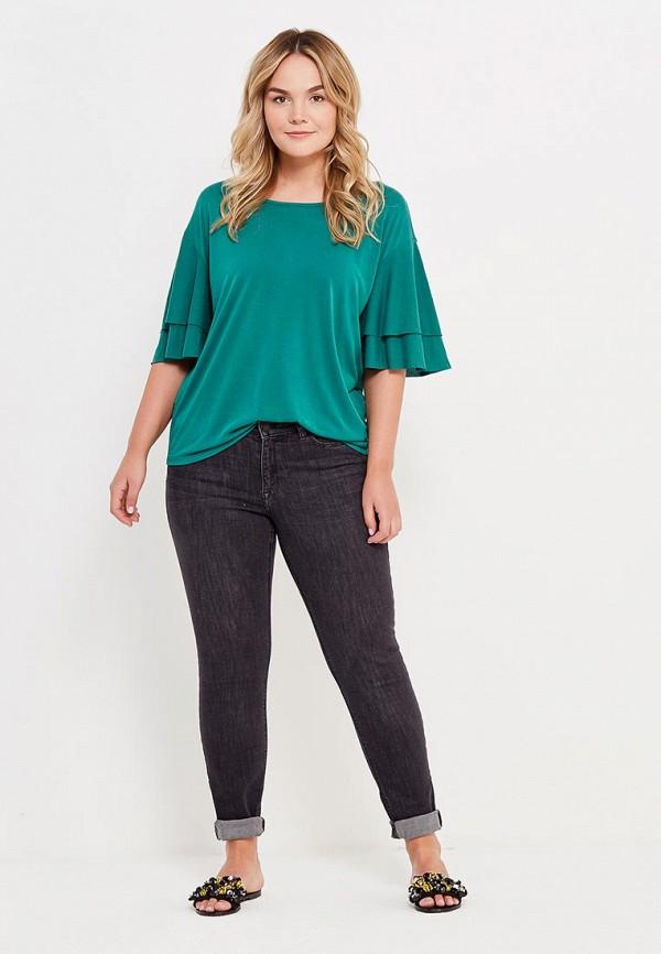 Фото 2 - женскую футболку Violeta by Mango зеленого цвета