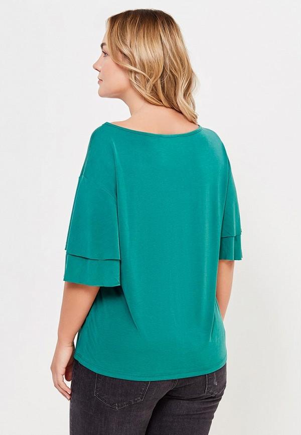 Фото 3 - женскую футболку Violeta by Mango зеленого цвета