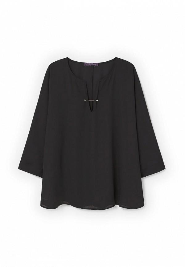 Фото 3 - женскую блузку Violeta by Mango черного цвета