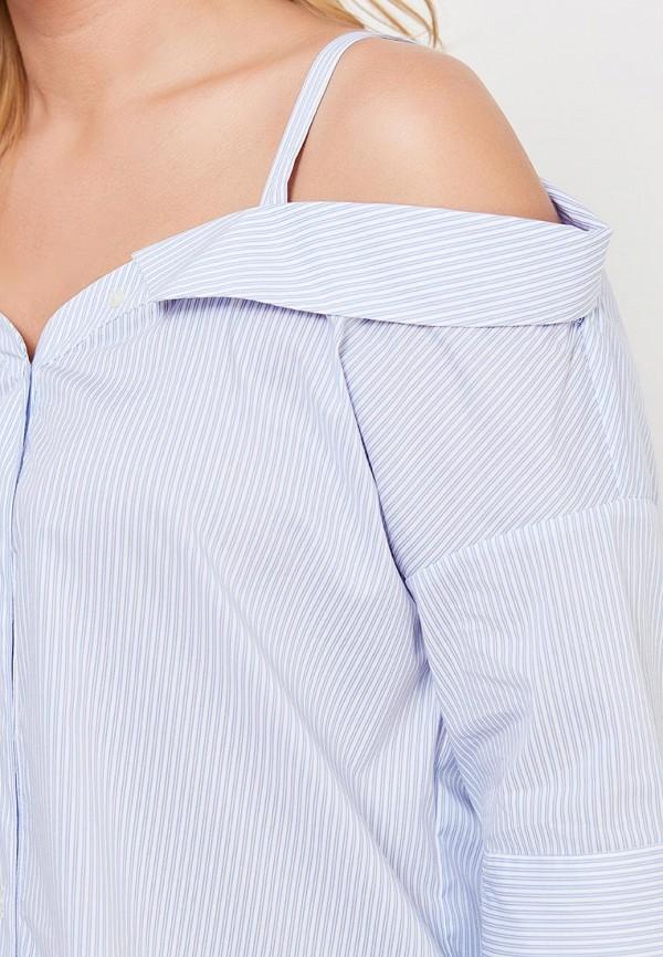 Фото 4 - женскую блузку Violeta by Mango голубого цвета