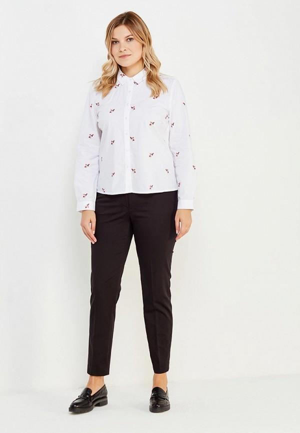 Фото 2 - женскую рубашку Violeta by Mango белого цвета