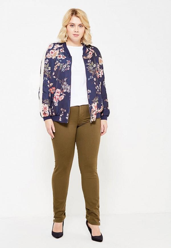 Фото 2 - мужские брюки Violeta by Mango цвета хаки