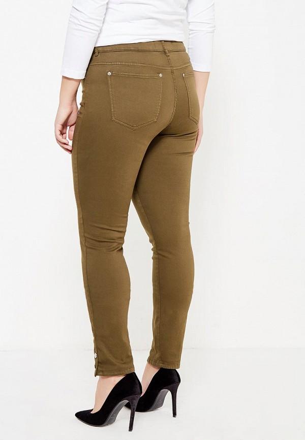 Фото 3 - мужские брюки Violeta by Mango цвета хаки