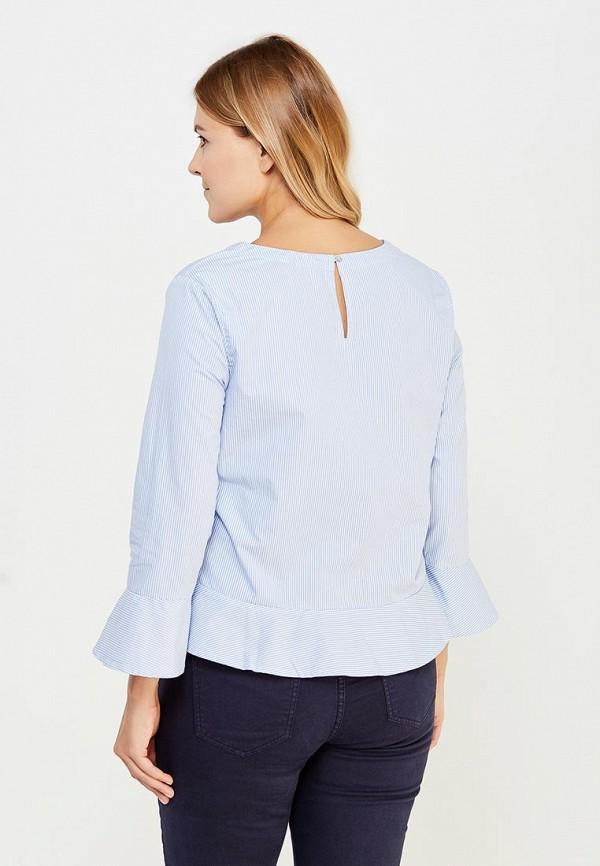 Фото 3 - женскую блузку Violeta by Mango голубого цвета