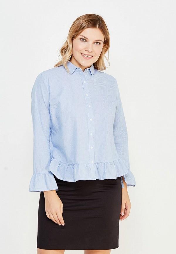 Фото - женскую блузку Violeta by Mango голубого цвета