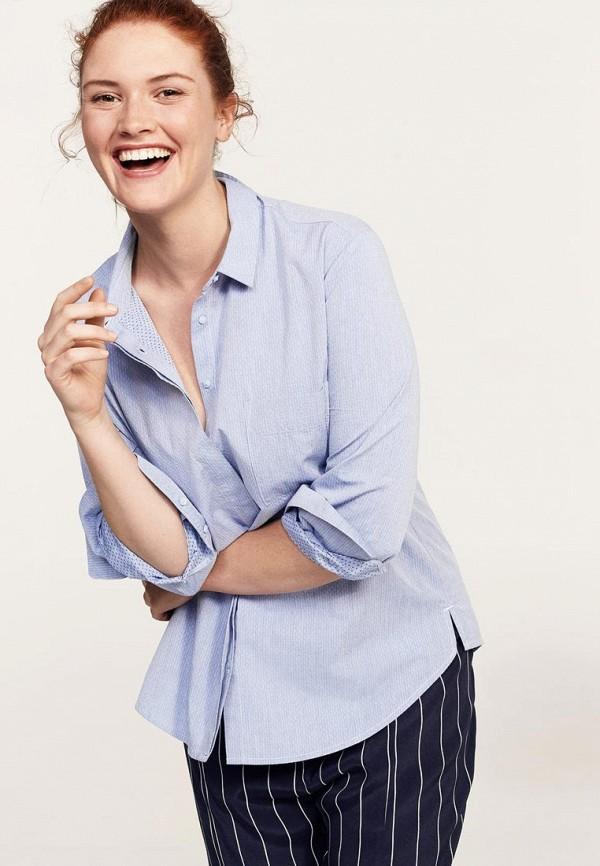 Фото - Блузу Violeta by Mango голубого цвета