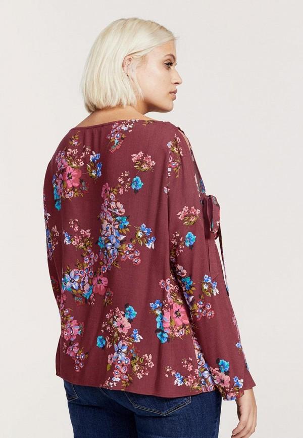 Фото 3 - женскую блузку Violeta by Mango бордового цвета