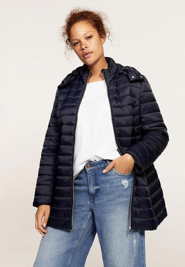 Фото - Куртку утепленная Violeta by Mango синего цвета