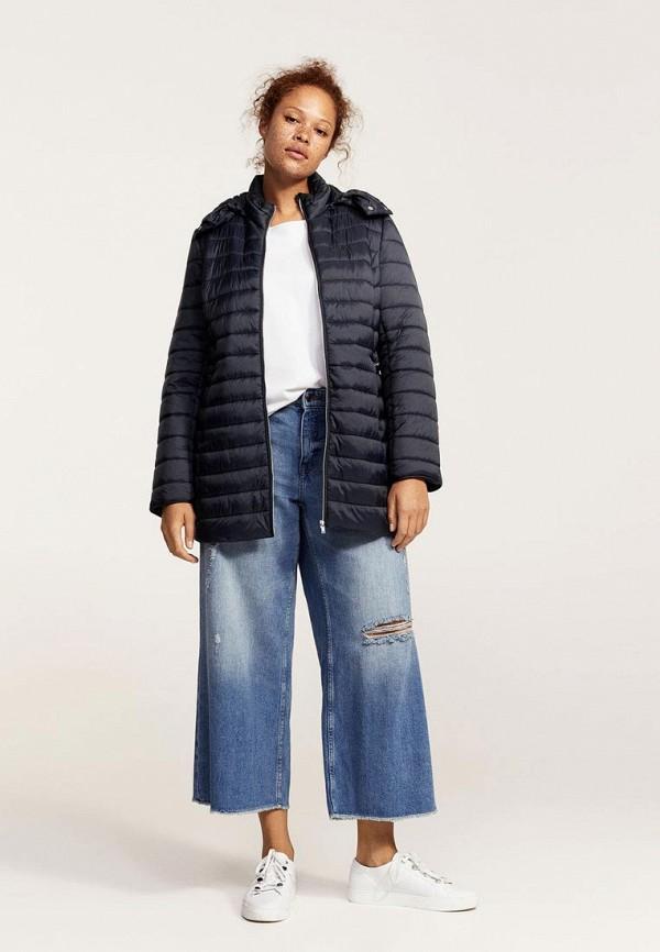 Фото 2 - Куртку утепленная Violeta by Mango синего цвета