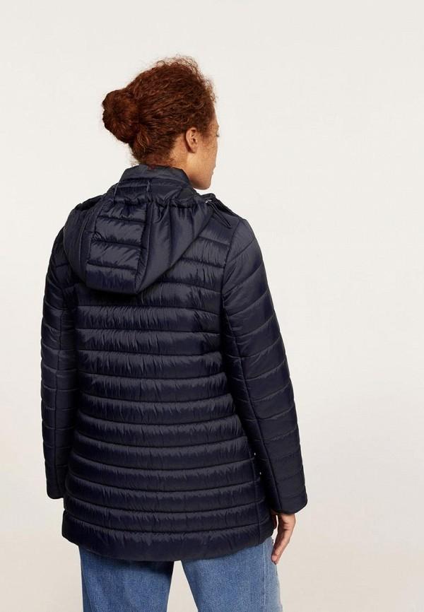 Фото 3 - Куртку утепленная Violeta by Mango синего цвета