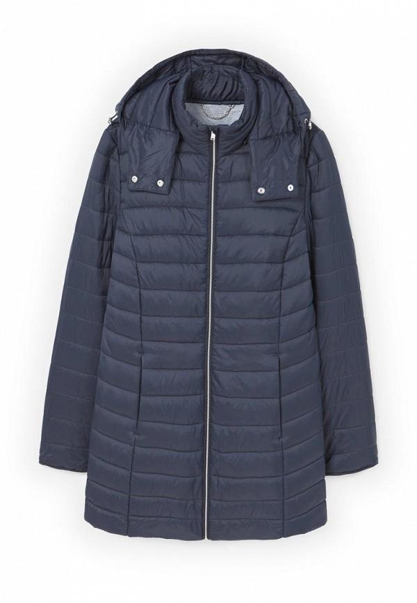 Фото 4 - Куртку утепленная Violeta by Mango синего цвета