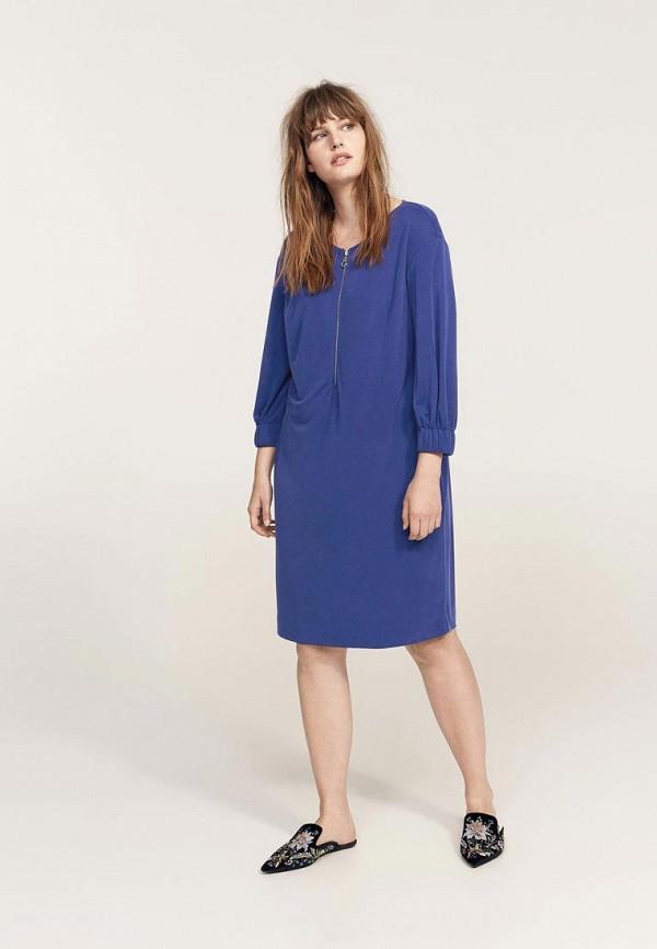 Фото - женское платье Violeta by Mango синего цвета