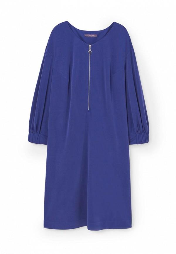 Фото 3 - женское платье Violeta by Mango синего цвета