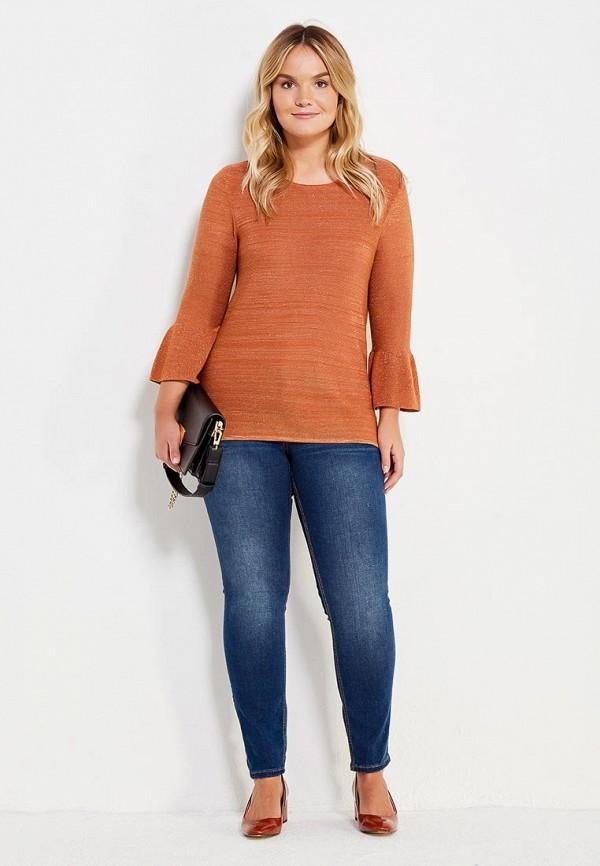 Фото 2 - женский джемпер Violeta by Mango оранжевого цвета