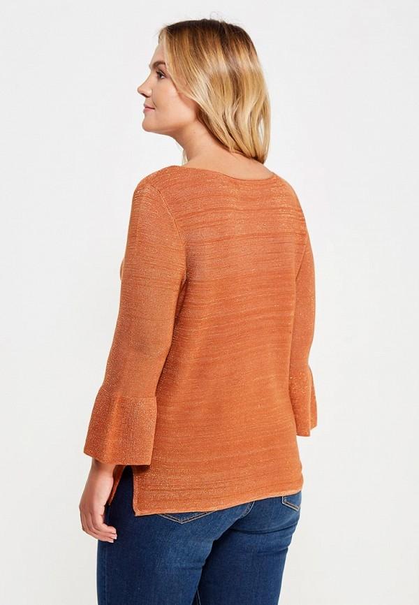 Фото 3 - женский джемпер Violeta by Mango оранжевого цвета