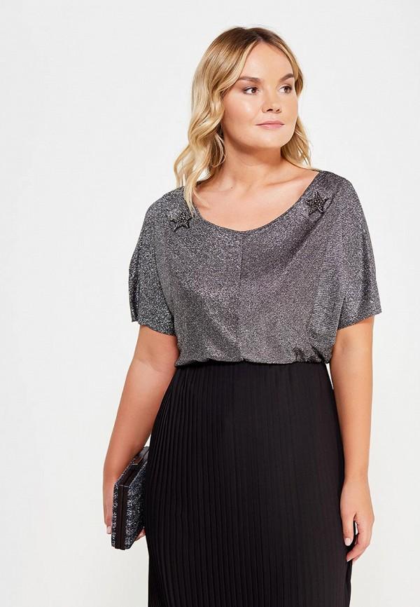 Фото - женскую футболку Violeta by Mango серебрянного цвета