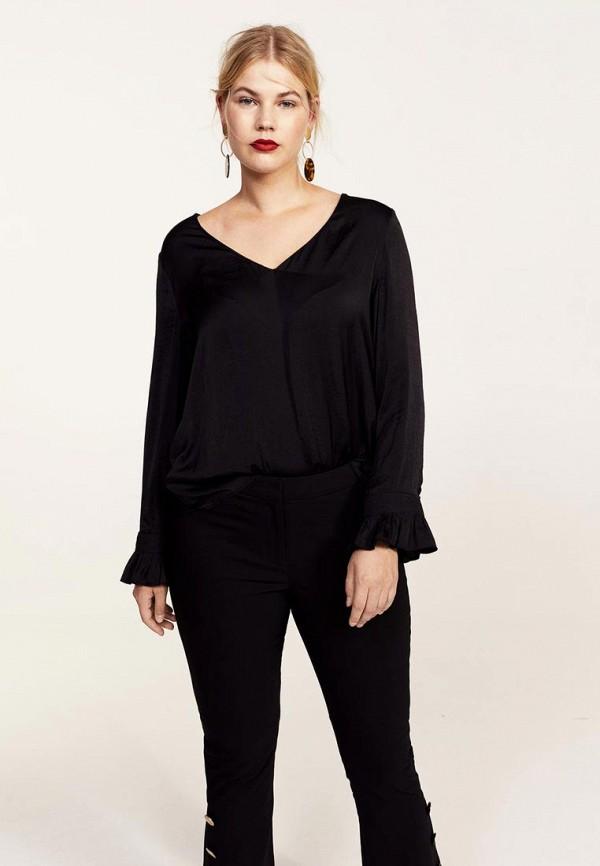 Фото 2 - женскую блузку Violeta by Mango черного цвета