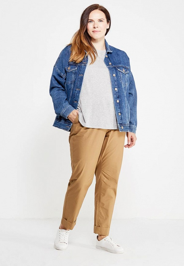 Фото 2 - мужские брюки Violeta by Mango бежевого цвета